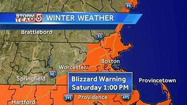 Thursday Blizzard Warning