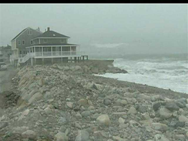 Residents in Scituate brace for the storm surge.
