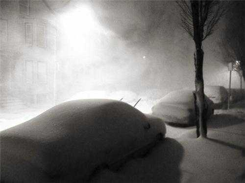 Cars are covered in East Boston