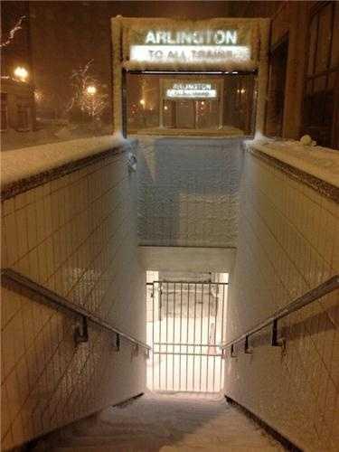 The Arlington Street MBTA Station.