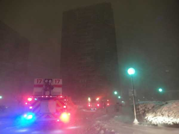 Two high-rise buildings in Boston were left without power and heat Friday night