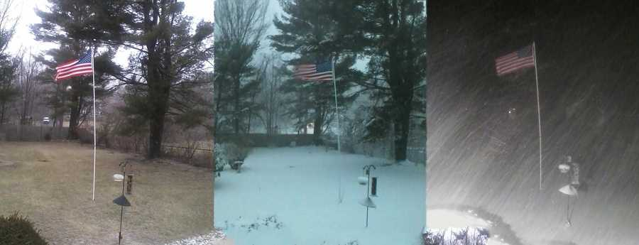 Pictures from Medway at 1 p.m., 5 p.m. and midnight