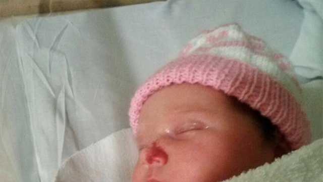 Abigail Margaret was born Friday during the blizzard at Tufts Medical Center in Boston.
