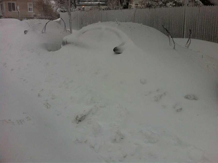 A car buried in Revere