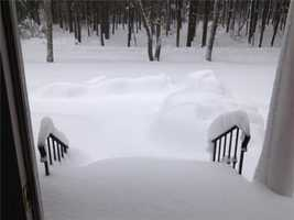 Buried front steps in Canton.