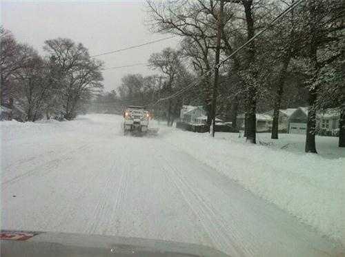 Plowing in Hingham Saturday Morning