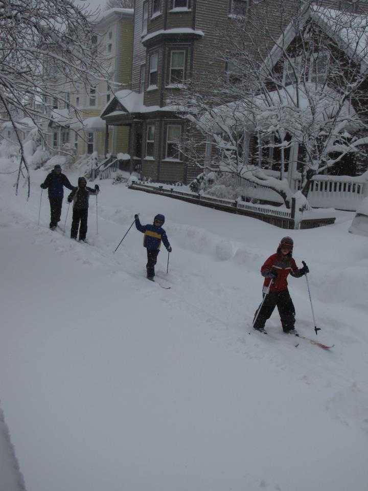 Skiing in Brookline anyone?