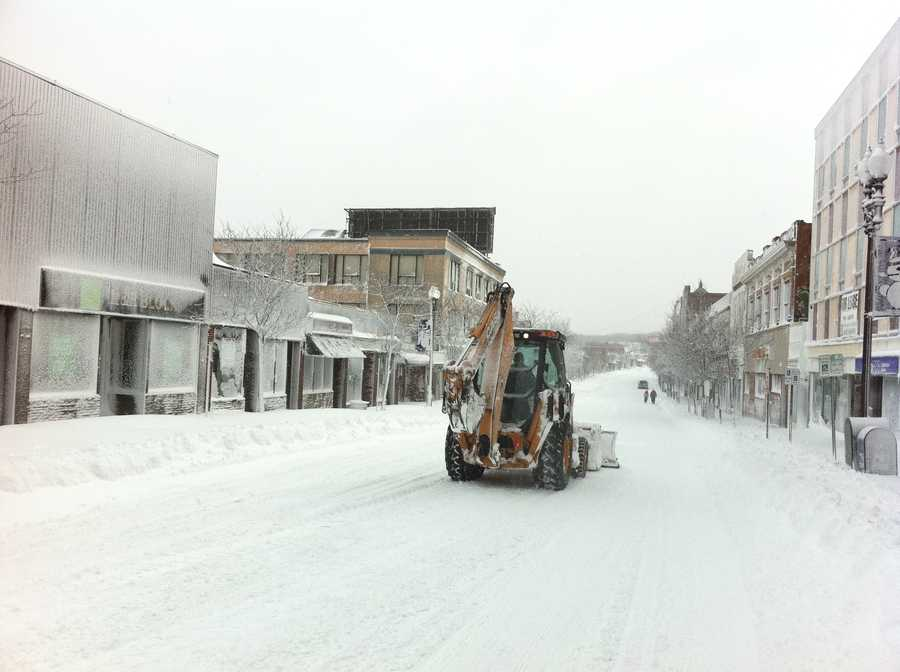 Downtown Quincy was a ghost town Saturday.