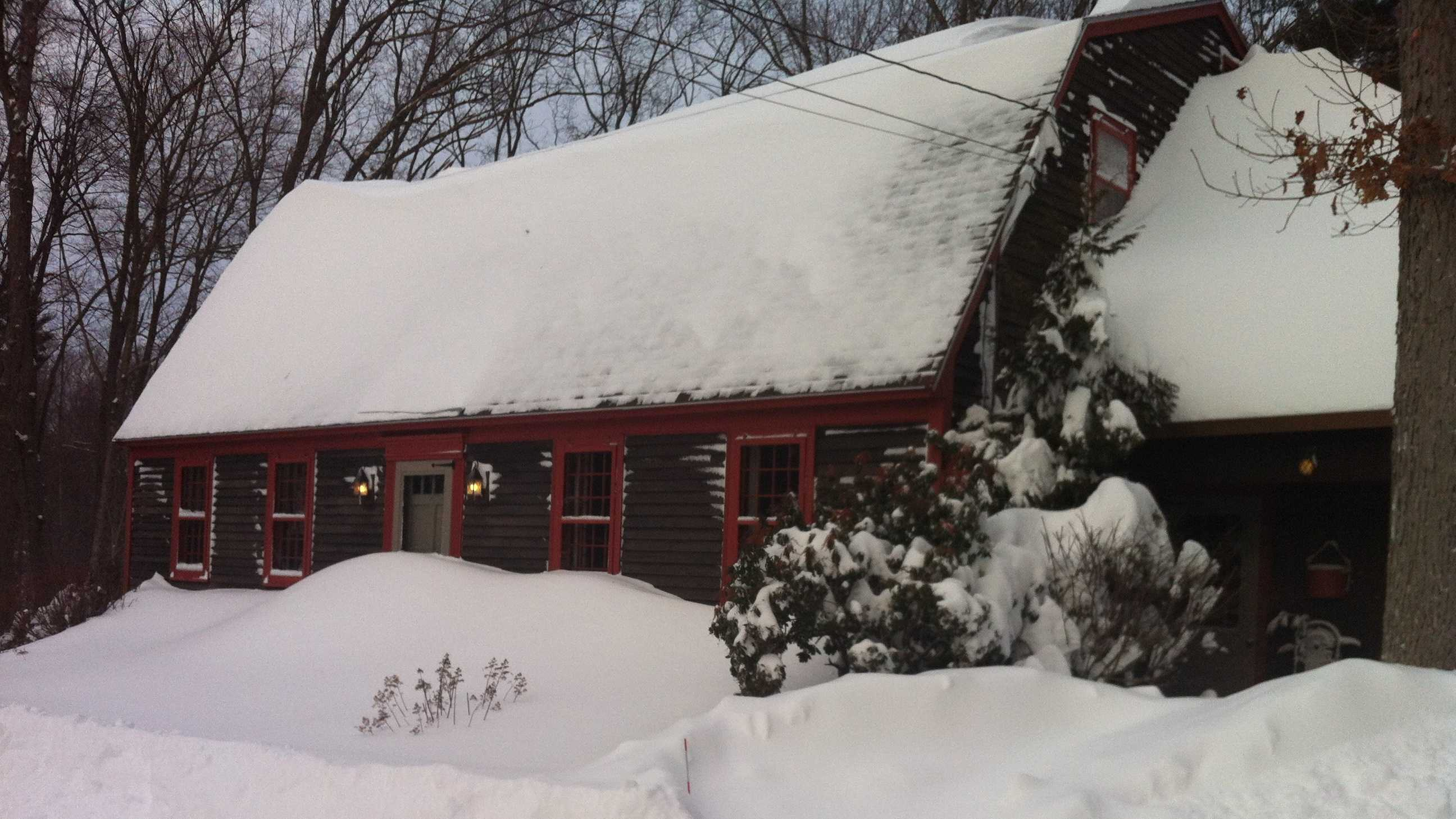 Boxford Home in Snow