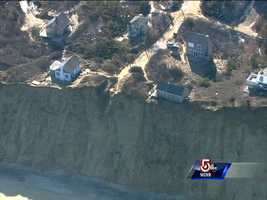 Sky 5 took an aerial tour of the erosion along the Cape Cod coastline following the Blizzard of 2013.
