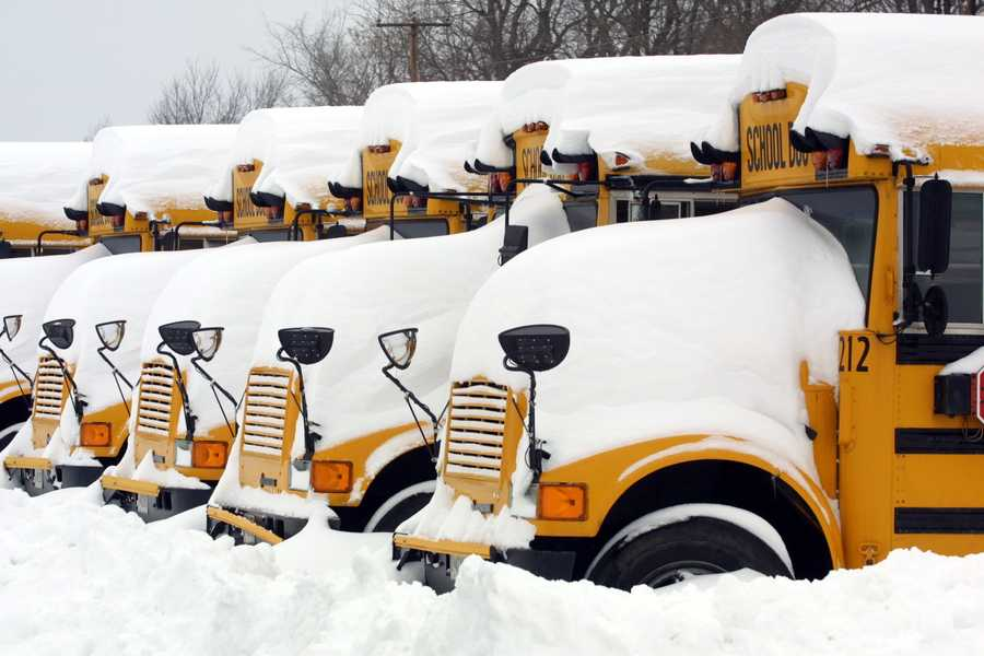 Many school districts affected by the blizzard closed schools for the week.