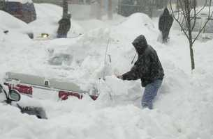 This snowstorm paralyzed much of the East Coast with its heavy snow. At the time it was the most significant and powerful storm to affect the major cities of the Northeast since the Blizzard of 1996.