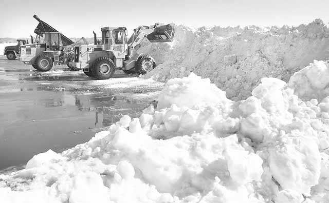 Finding places to dump the snow along the South Shore