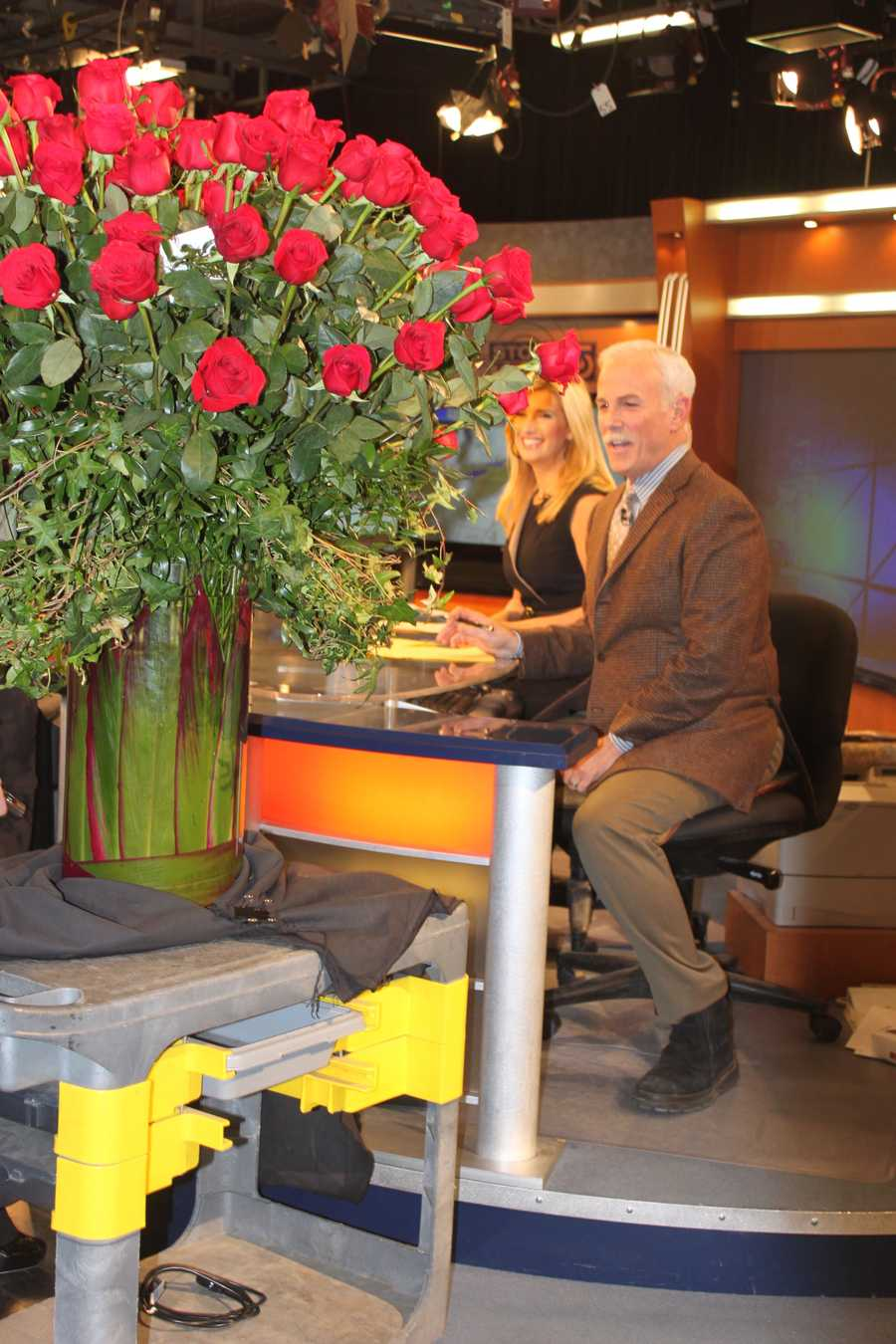 It was all smiles on the anchor desk.