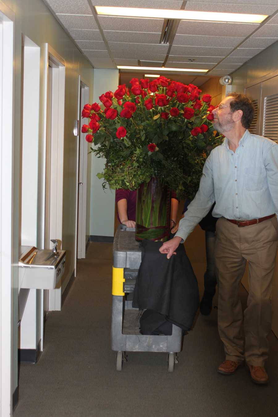 There, of course, was just enough time to smell the roses as it made its way into the studio.