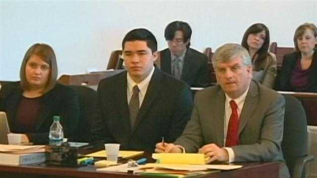 Massachusetts State Police trooper David Twomey testified Wednesday that a bloody fingerprint found on Fujita's car matched his fingerprint.