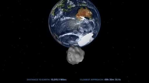 An asteroid like this flies by earth every 40 years, but only strikes our planet every 1200 years or so.