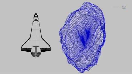 Here's a look at the size of 2012 DA14 compared to one of the retired U.S. space shuttles.