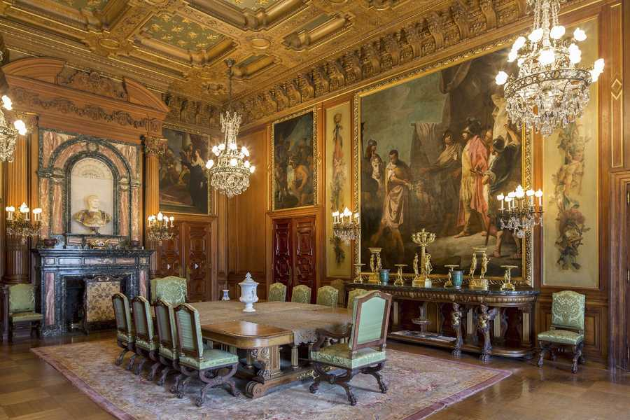 A series of early 18th-century Venetian paintings, that were the basis for the room's design, have been reunited for the first time in 50 years.