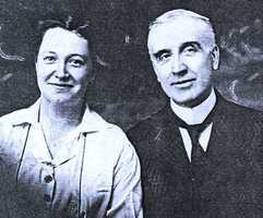 Grace Rhodes Birch, left, a cook at The  mansion in , R.I., with her husband Ernest Birch, the mansion's butler. The couple married in 1918.