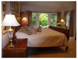 A view of the master suite.
