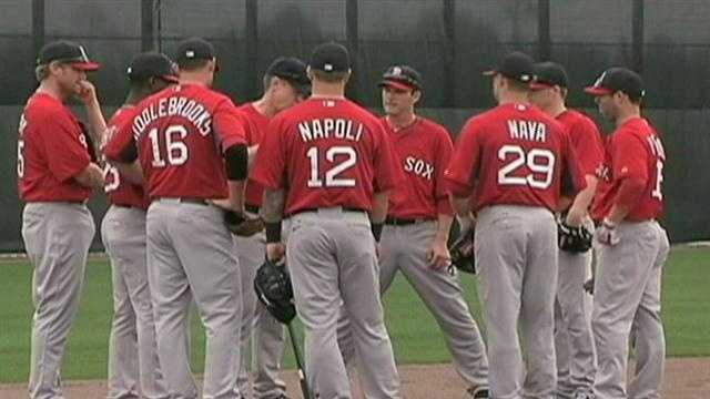 Boston Red Sox manager John Farrell addressed his full team for the first time during spring training.