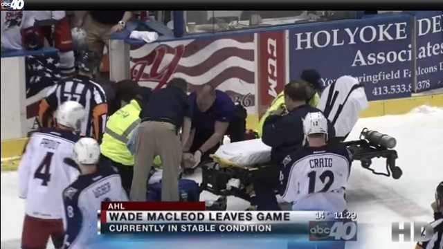 Hockey Player Seizure