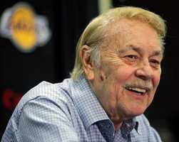 Jerry Buss was the Los Angeles Lakers' playboy owner who shepherded the NBA franchise to 10 championships from the '80s Showtime dynasty to the Kobe Bryant era. (January 27, 1933 – February 18, 2013)