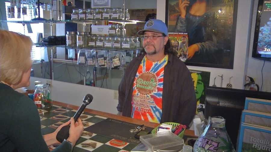 Mike Brodeur is the manager of Ganja Gourmet, a marijuana dispensary.