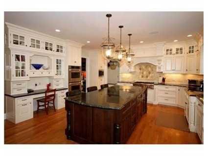 The kitchen has high-end appliances.