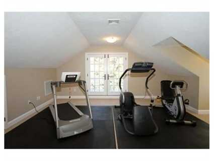 There's plenty of space for a home gym.