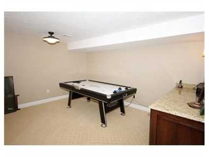 Space for your game room.