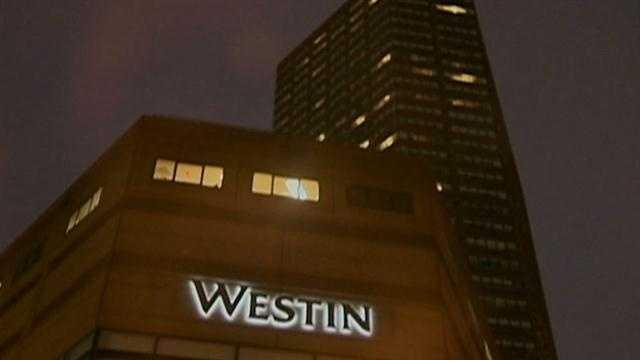 Westin hotel at night