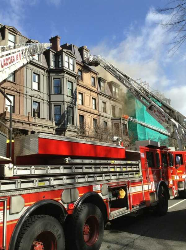 The fire was on the fifth floor.
