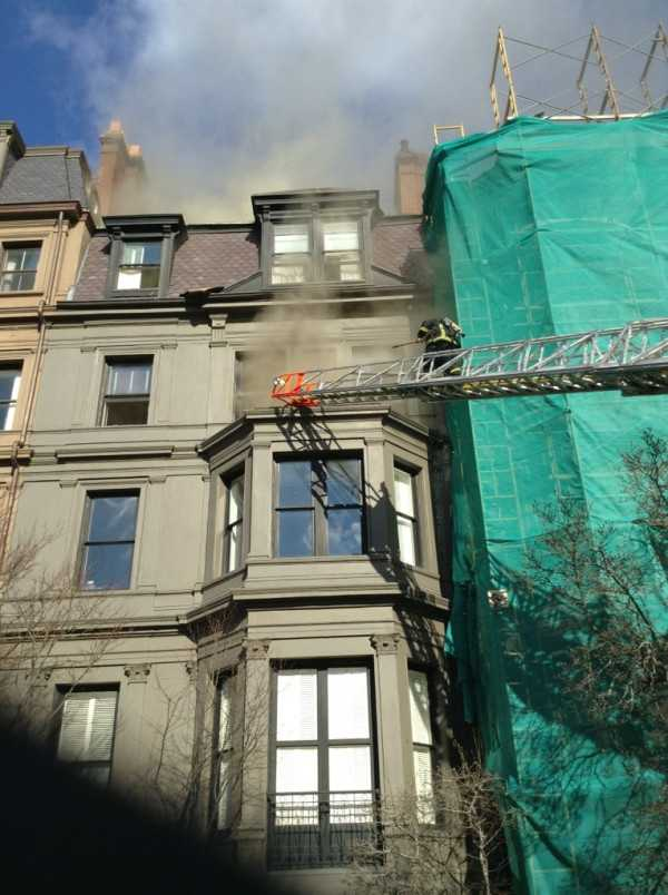 Officials said the fire was in the ductwork.