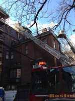 The fire was sparked by an in-floor radiant heater, officials said.