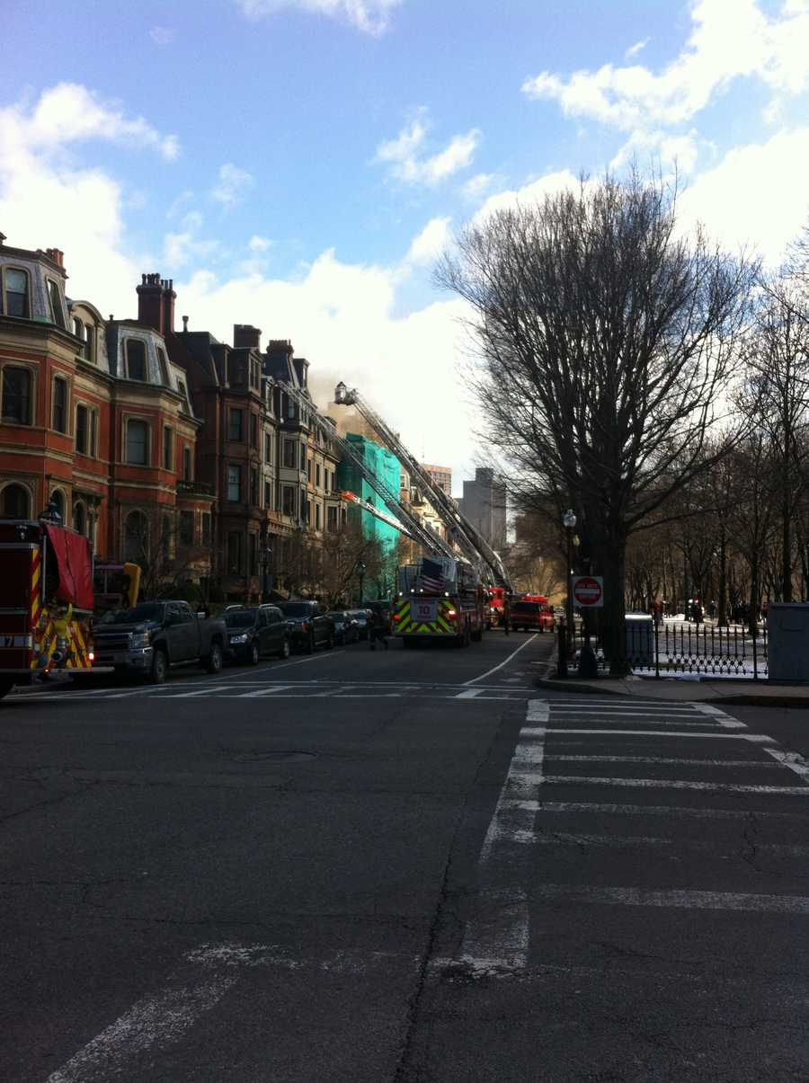 Fire crews were called to Commonwealth Avenue in Boston.