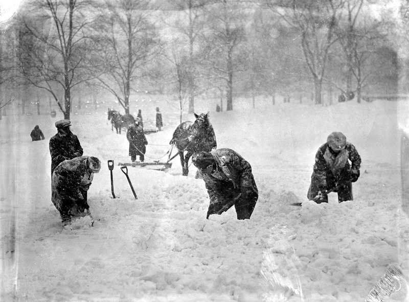 We've also scanned through photo archives, looking for historical photos from winter storms over the years.
