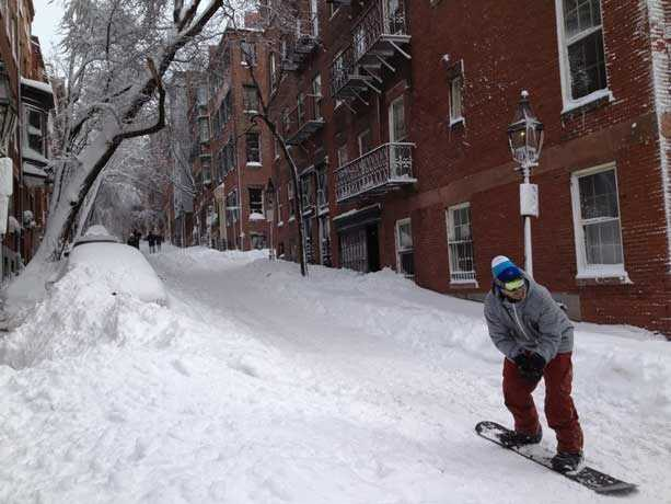 Though not yet finished, February 2013 has already secured its position in the top ten snowiest Februarys on record for Boston.