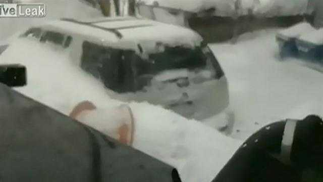A private contractor paid to plow Massachusetts streets has been fired after he recorded himself on video joking about burying cars during the blizzard earlier this month.