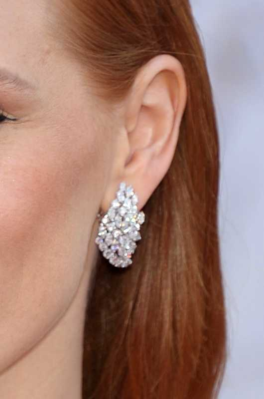 The earrings worn by Actress Jessica Chastain