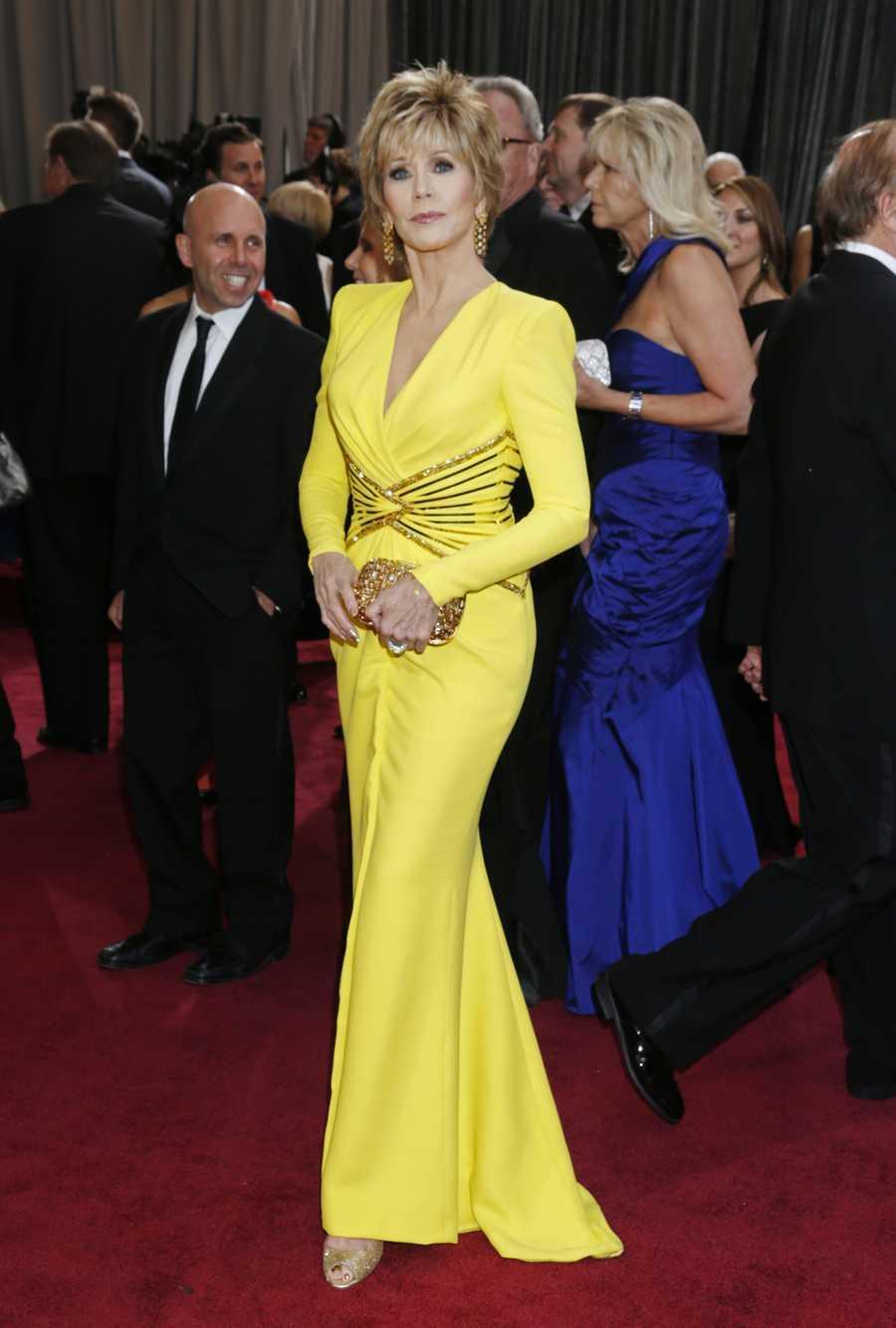 Jane Fonda arrives at the Oscars