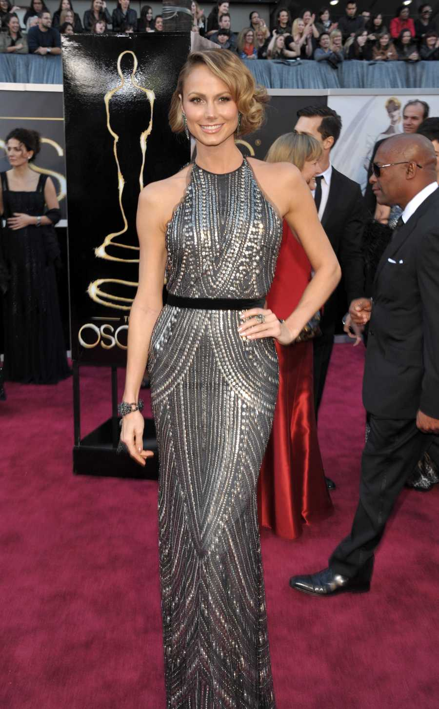 Actress Stacy Keibler arrives at the Oscars at the Dolby Theatre
