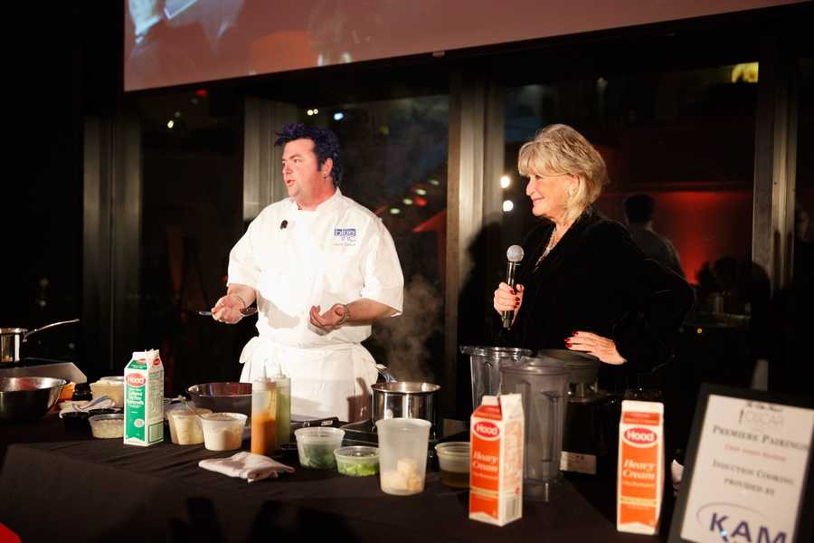 Susan Wornick with Chef Jason Santos of Blue Inc. The Ellie Fund fights breast cancer and eases its effects on patients and families by providing services free of charge to hundreds of women and family members across Massachusetts each year.
