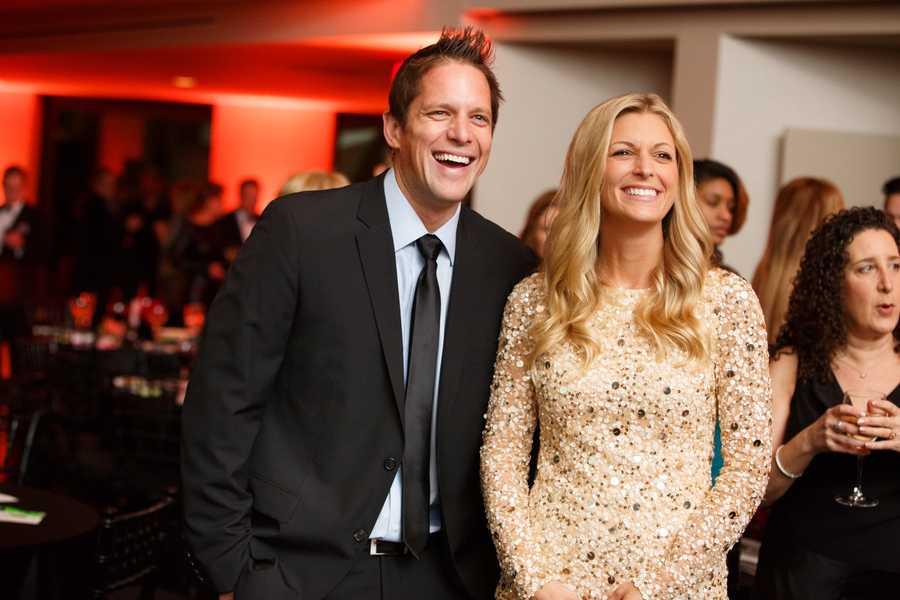 "Chris Lambton, who appeared on ""The Bachelorette"" and his wife, Peyton Lambton, who appeared on ""The Bachelor."""