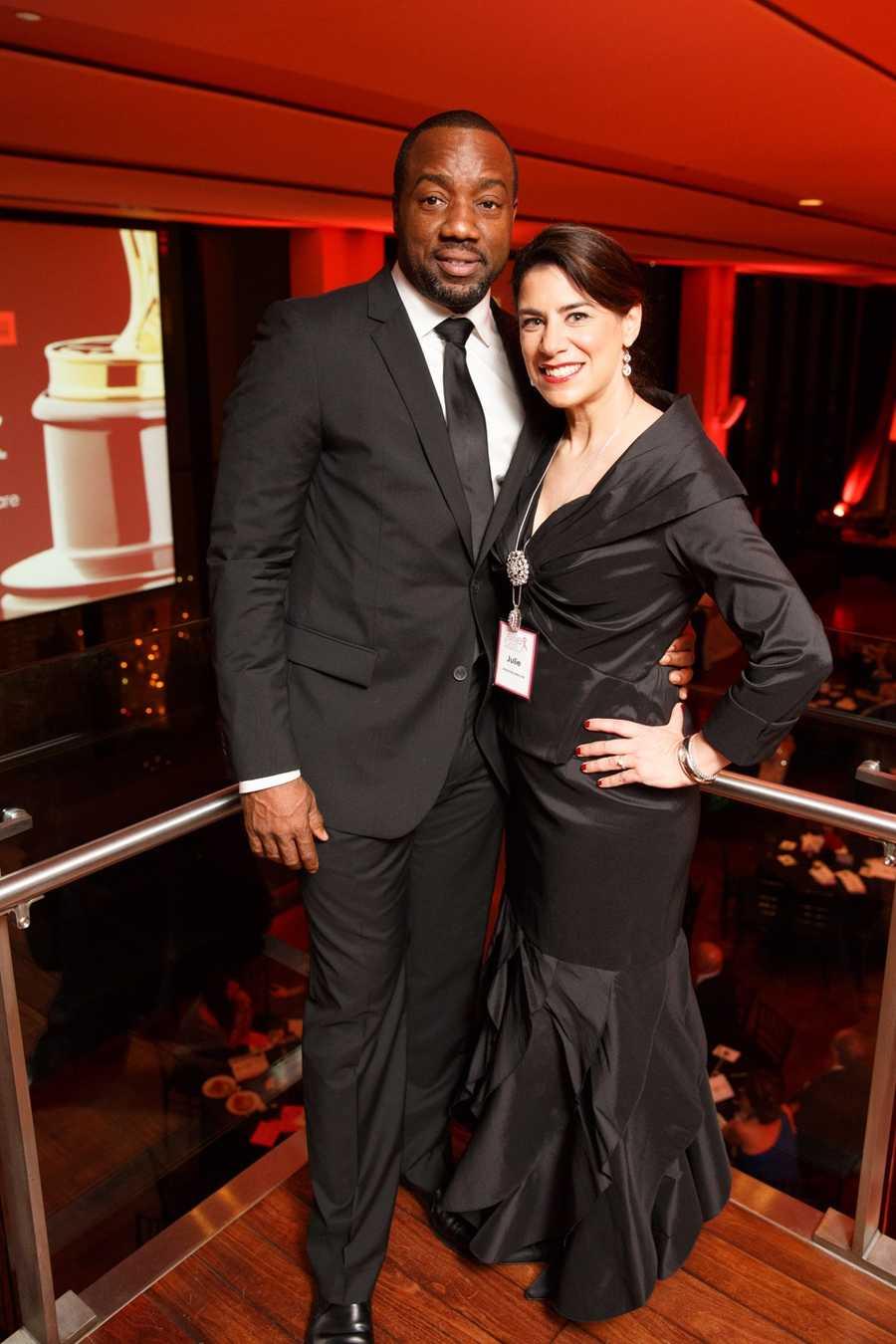 Actor Malik Yoba and Julie Nations