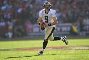 tie 9) Drew Brees - New Orleans Saints Quarterback - $9,750,000