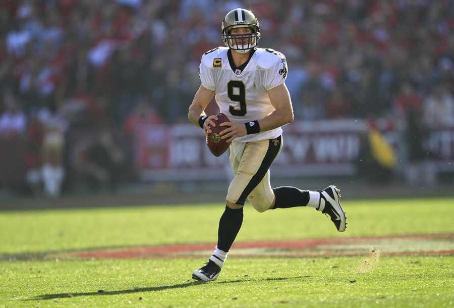 tie 9) Drew Brees - New Orleans Saints Quarterback - $9,750,000
