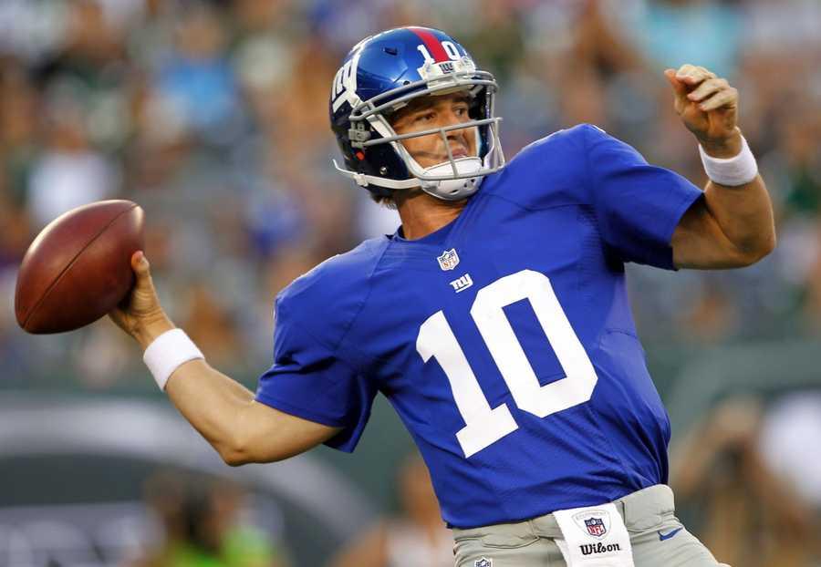 tie 2) Eli Manning - New York Giants Quarterback - $13,000,000