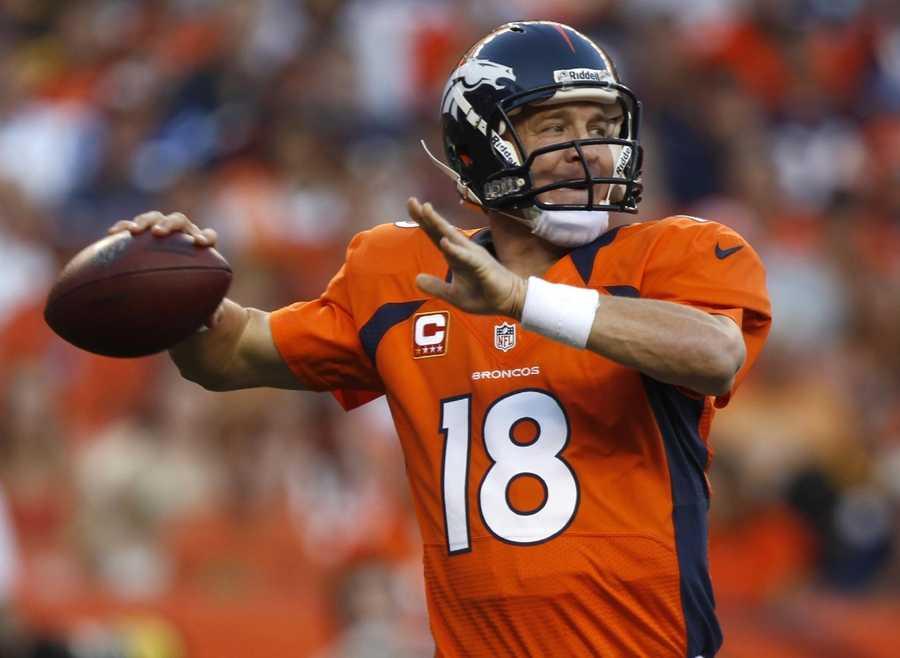 1. Peyton Manning - Denver Broncos Quarterback - $20,000,000